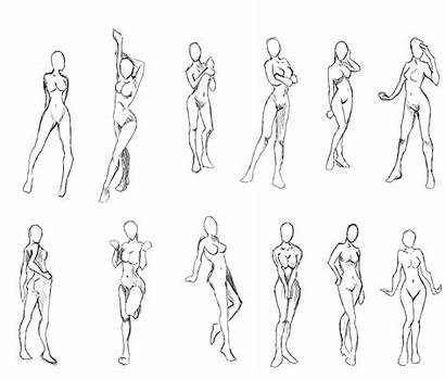 Poses Template Action Drawing Concept Male Fantasy