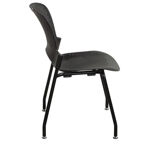 herman miller caper used armless stack chair black
