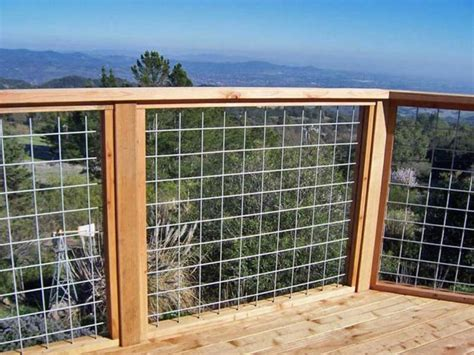 wire mesh deck railing systems diy pinterest deck