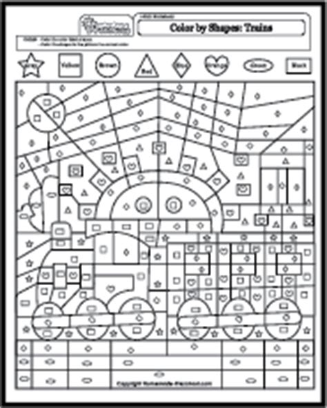 color  shapes coloring pages