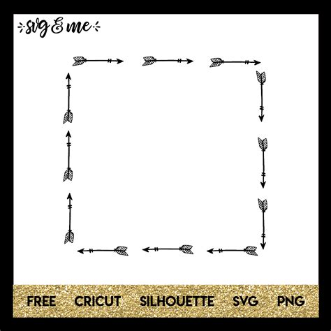 Here you can paste a photo on the page disclosed album, and in the. Square Arrow Frame - SVG & Me