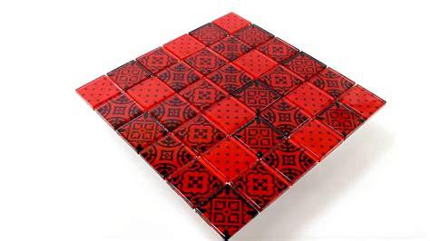 mosaik fliesen rot dekorfliesen glas mosaik fliesen zementoptik rot