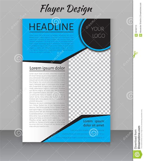 magazine flyer brochure  cover layout design print