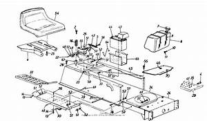 Mtd 134x694g401  1994  Parts Diagram For Frame  Upper  Fuel Tank  Battery  Seat