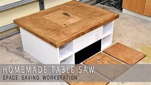 4 in one Homemade Table Saw Modular Plans Available