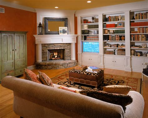 20 appealing corner fireplace in the living room house