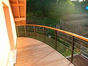 Garde Corp Terrasse : garde corps de terrasse en bois metal concept escalier ~ Melissatoandfro.com Idées de Décoration