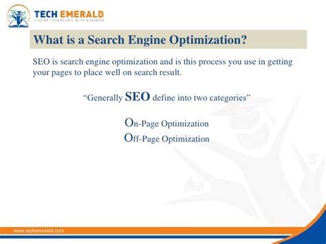 Define Search Engine Optimization by Search Engine Optimization Tutorial