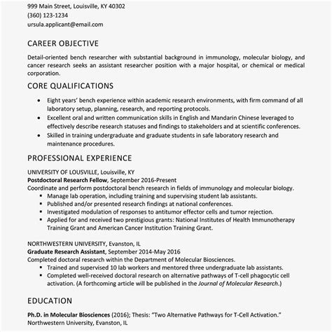 Research Assistant Resume by Research Assistant Description Salary Skills More