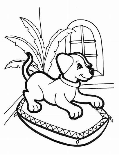 Coloring Printable Puppy Dog Puppies Kleurplaat Dogs