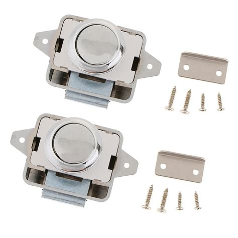 Rv Cupboard Door Latches by 2 Sets Push Button Latch Catch Lock For Rv Boat Drawer