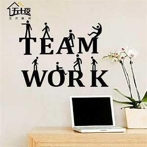 online get cheap team work aliexpresscom alibaba group With office wall decor