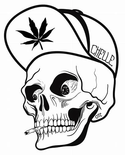 Graffiti Skull Clipart Drawing Character Easy Characters