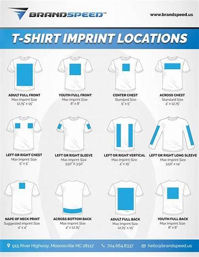 Printing Shirt Shirts Screen Custom Imprint Locations