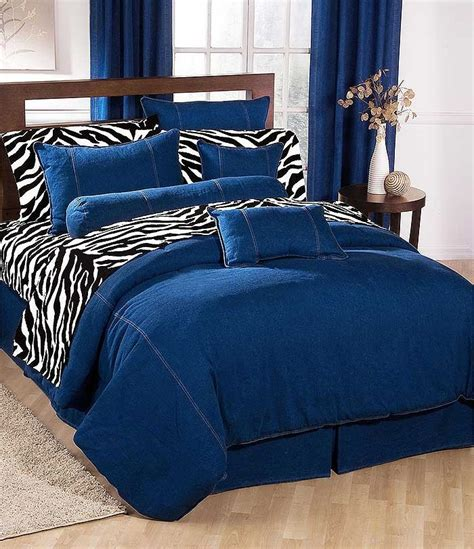 black and white bedskirt denim comforter blue jean bedding california