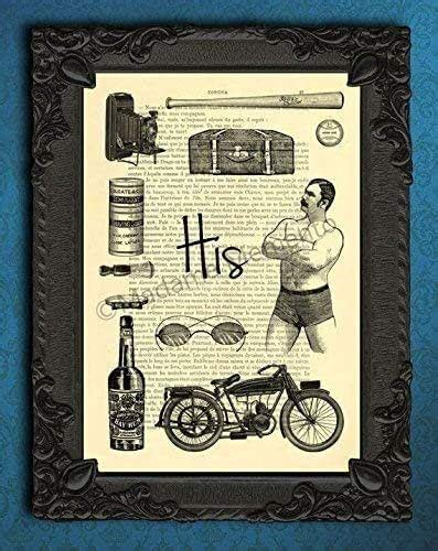No, they're not expensive at all or have anything of value in them but they do. Amazon.com: His bathroom wall decor art print dictionary ...