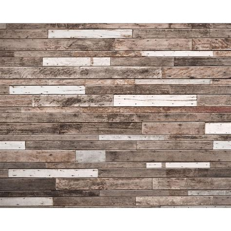 wooden planks wall mural wr  home depot
