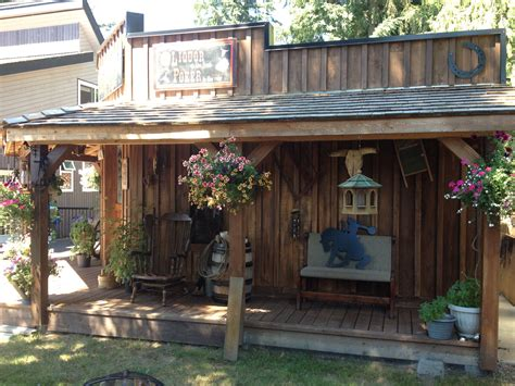 Backyard Saloon by Western Theme Shed Saloon Look Western Style Backyard