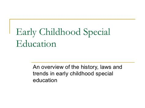 early childhood special education 207 | early childhood special education 1 728