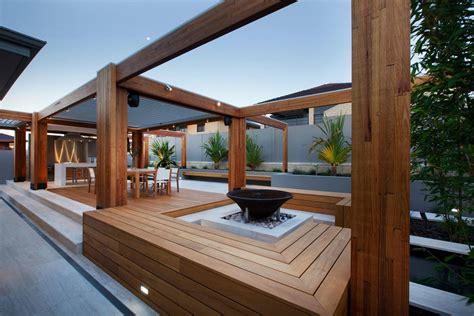 stylish backyard  teak decking idesignarch