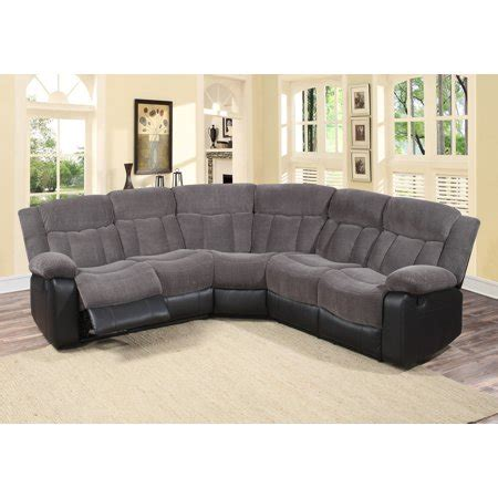 3 Pc Living Room Sofa Sets by 3 Pc Grey Fabric Living Room Reclining Sectional