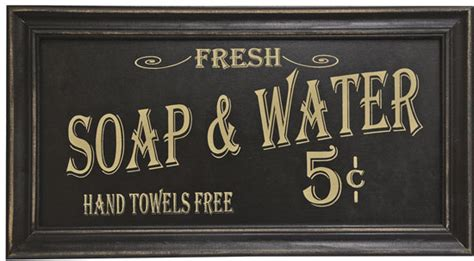 vintage soap  water sign