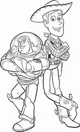 Woody Coloring Sheriff Buzz Lightyear Pages Colouring Sheets Disney Animal sketch template