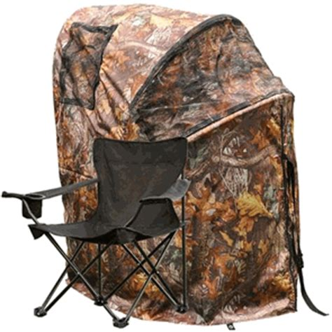 pop up deer ground chair blind camouflage