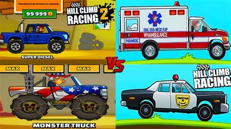 hill climb racing monster truck hill cllimb racing 1 vs hill climb racing 2 monster