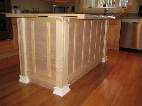 kitchen island base building a kitchen island from scratch woodworking 1837