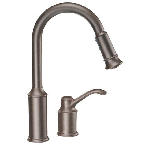 Moen Pullout Kitchen Faucet by Moen 7590orb Aberdeen Single Handle Pullout Kitchen Faucet