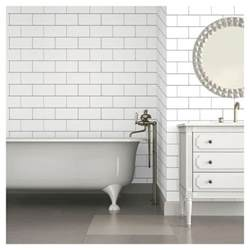 color textured subway tile peel stick wallpaper white target