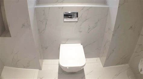 Thin Tiles For Bathroom by 9 Best Images About White Carrara Marble Effect Tiled