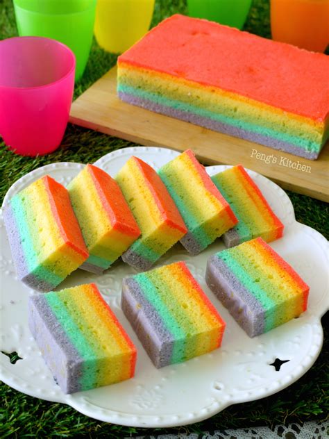pengs kitchen steamed rainbow cake