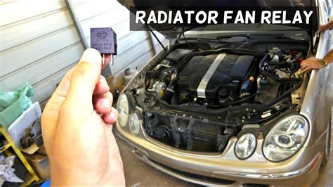 mercedes  radiator fan relay location replacement