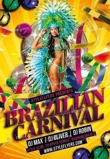brazilian carnival flyer template brazilian carnival psd flyer template 16564 styleflyers