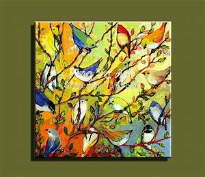 Abstract modern large canvas wall art handmade decorative ...