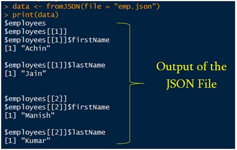 How To Read/write Data From Json Files Using R Programming