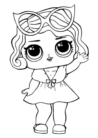 lol doll leading baby coloring page  printable