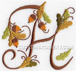 Letter H - Cute Alphabets - Embroidery Fonts