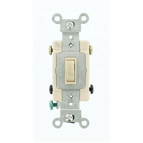 single pole switch leviton decora 15 amp single pole dual switch light almond r66 05634 0ts the home depot
