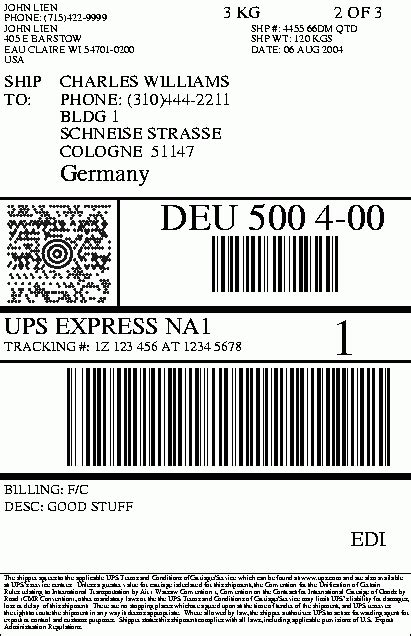 ups shipping label template printable label templates