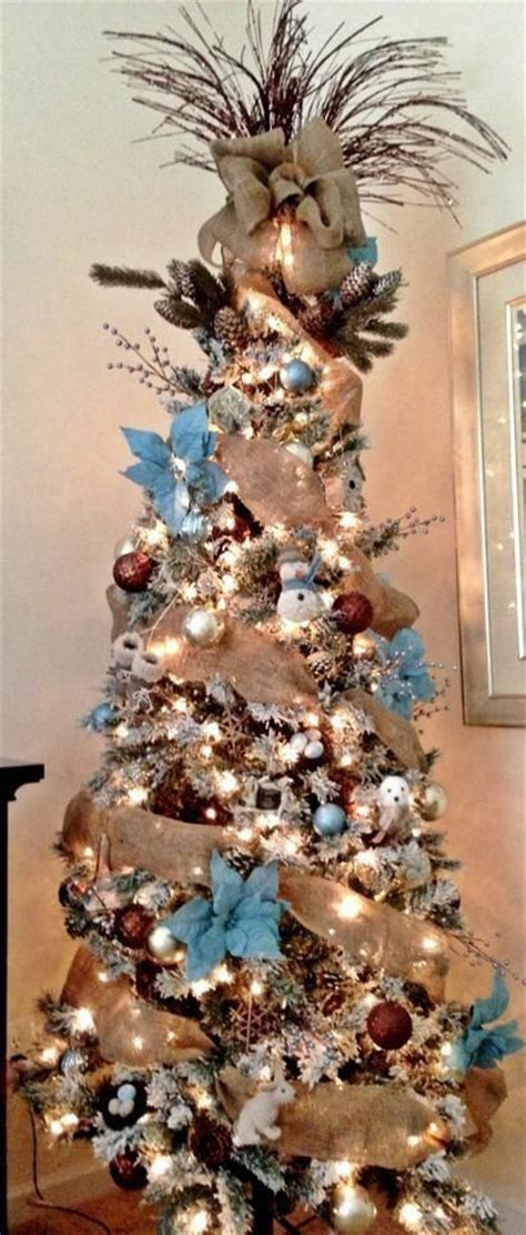 rustic christmas tree decorated christmas trees pinterest