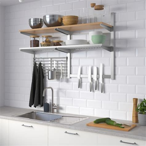 kungsfors wall storage  grid knife rack stainless