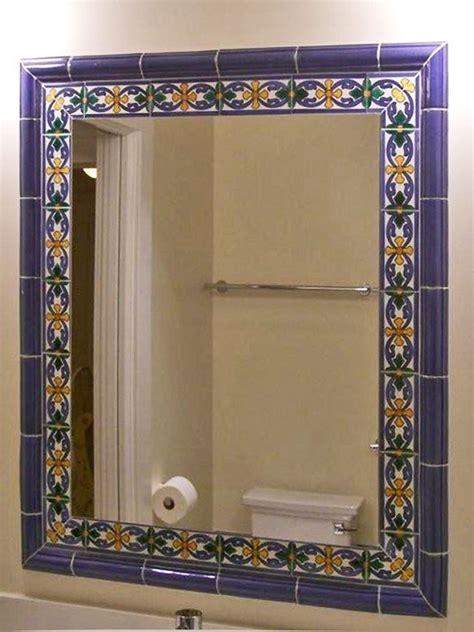 25 best ideas about tile mirror frames on