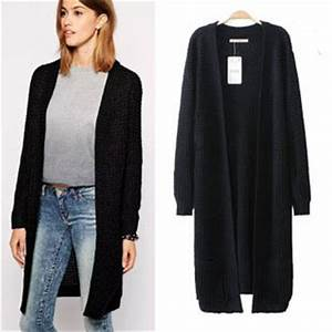 Gilet Long Noir Femme : gilet en laine femme long gilet femme bleu marine coton ~ Voncanada.com Idées de Décoration