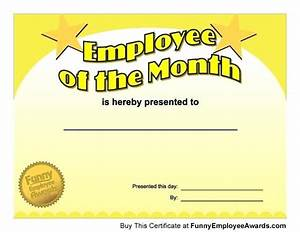 funny certificates for employees templates - employee of the month certificate template funny blank