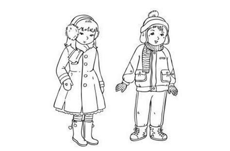 children  winter cloths coloring pages coloring home