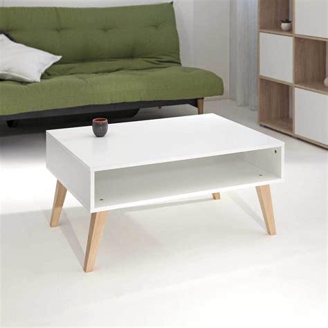 table ronde de cuisine table basse pieds inclinés eléonor pieds bois blanc