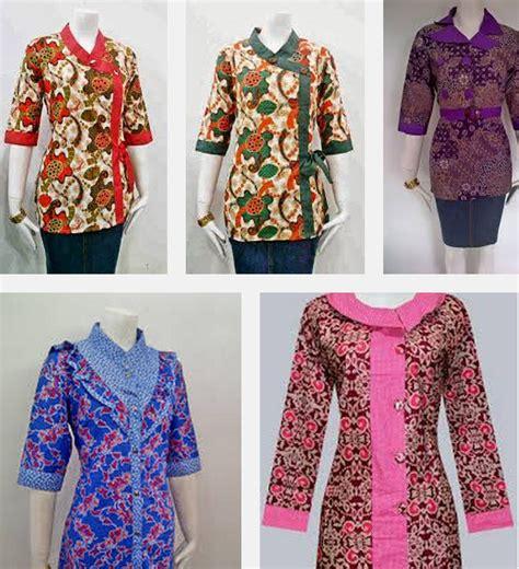 Kaos Wanita Dewasa Lengan Panjang Model Baju Batik Kerja Wanita Lengan Panjang Kombinasi